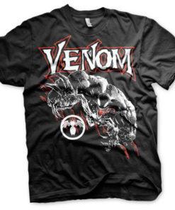 T-shirt Venom grandes Tailles de couleur Noir