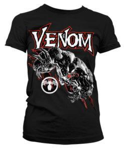 T-Shirt Venom pour Femme de couleur Noir