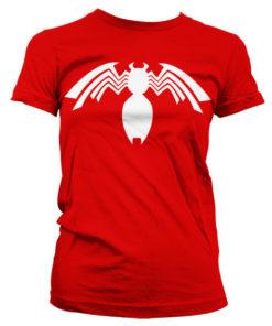 T-Shirt Venom Icon pour Femme de couleur Rouge