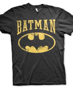 T-Shirt Vintage Batman de couleur Noir