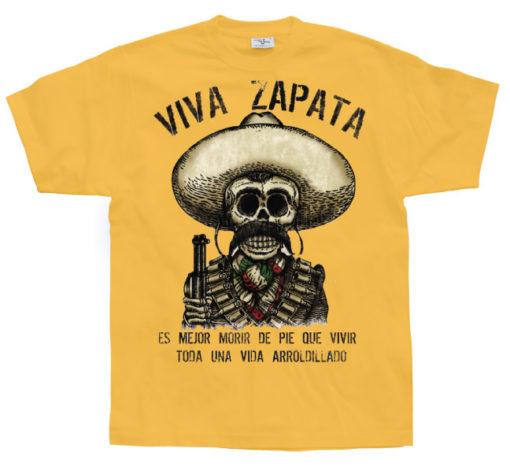T-shirt Viva Zapata jaune orangé