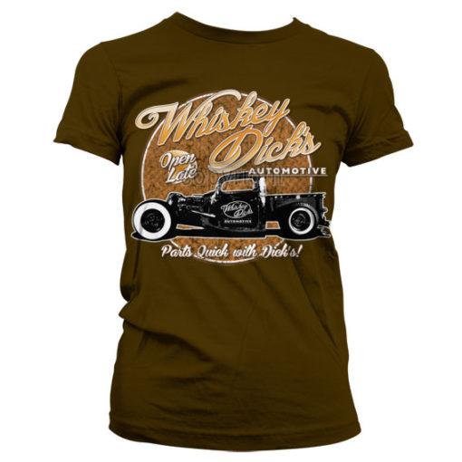 T-Shirt Whisky Dick's Auto Parts pour Femme de couleur Marron
