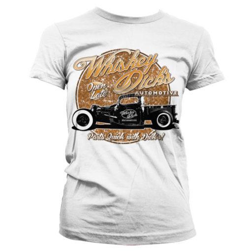 T-Shirt Whisky Dick's Auto Parts pour Femme de couleur Blanc