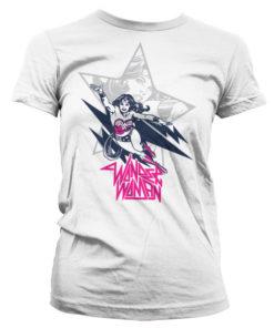 T-Shirt Wonder Woman Flying pour Femme de couleur Blanc