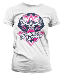 T-Shirt Wonder Woman Stars pour Femme de couleur Blanc