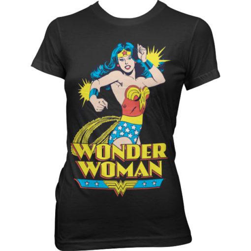 T-Shirt Wonder Woman pour Femme de couleur Noir