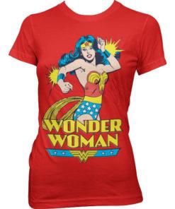 T-Shirt Wonder Woman pour Femme de couleur Rouge