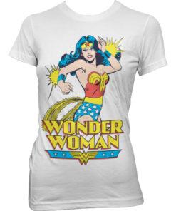 T-Shirt Wonder Woman pour Femme de couleur Blanc