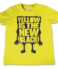 T-Shirt Yellow Is The New Black  pour enfant de couleur Jaune