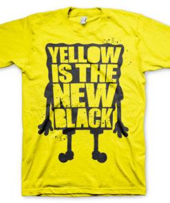 T-shirt Yellow Is The New Black grandes Tailles de couleur Jaune