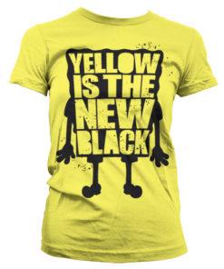 T-Shirt Yellow Is The New Black pour Femme de couleur Jaune