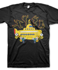T-Shirt Yellow Submarine de couleur Noir