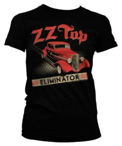 T-Shirt ZZ-Top Eliminator pour Femme de couleur Noir