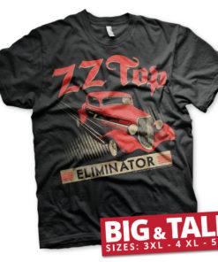 T-shirt ZZ-Top Eliminator grandes Tailles de couleur Noir