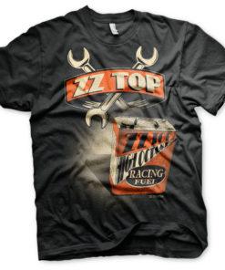 T-Shirt ZZ-Top High Octane Racing Fuel de couleur Noir