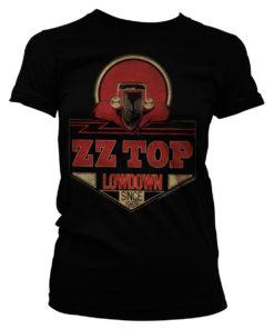 T-Shirt ZZ-Top - Lowdown Since 1969 pour Femme de couleur Noir