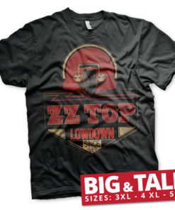 T-shirt ZZ-Top - Lowdown Since 1969 grandes Tailles de couleur Noir