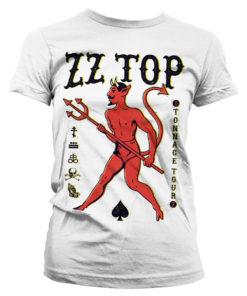 T-Shirt ZZ-Top - Tonnage Tout pour Femme de couleur Blanc