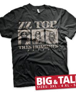 T-shirt ZZ-Top - Tres Hombres grandes Tailles de couleur Noir