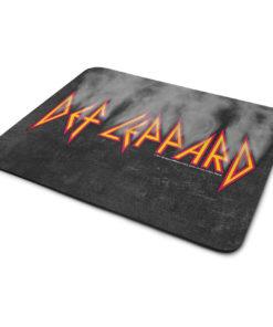 Tapis de souris Def Leppard Smoke Logo de couleur
