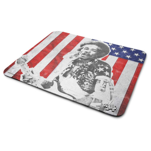 Tapis de souris Jimi Hendrix - Stars and Stripes de couleur