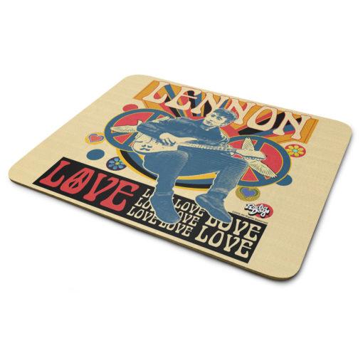 Tapis de souris John Lennon - Love de couleur