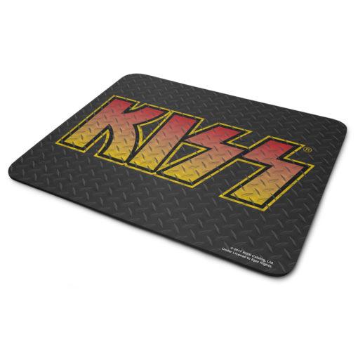 Tapis de souris KISS Diamond Plate Logo de couleur