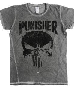 Tee shirt Marvel's The Punisher Big Skull de couleur Gris Foncé