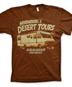 T-Shirt Breaking Bad Heisenberg's Desert Tours marron