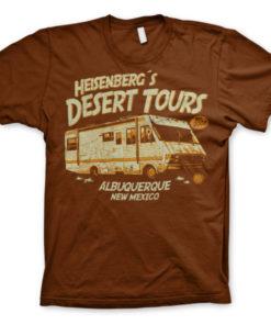 T-Shirt Breaking Bad Heisenberg's Desert Tours marron
