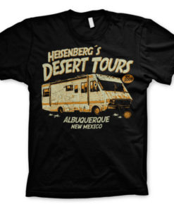 T-Shirt Breaking Bad Heisenberg's Desert Tours noir