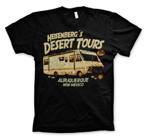 T-Shirt Breaking Bad Heisenberg's Desert Tours noir