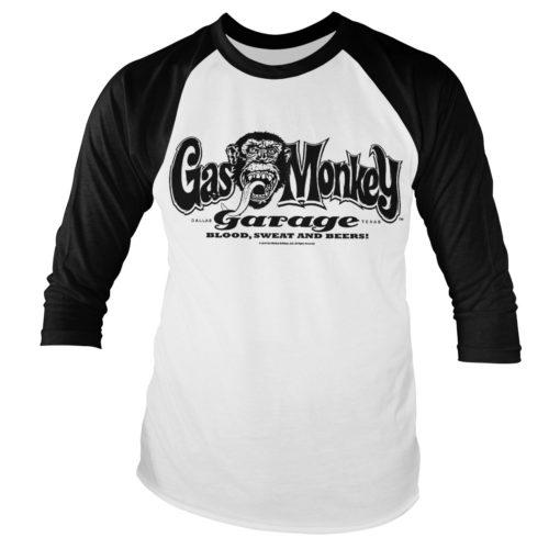 Tshirt manches longues Gas Monkey Garage Logo Baseball de couleur