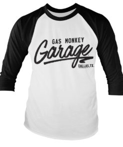 Tshirt manches longues GMG Baseball de couleur Noir/Blanc