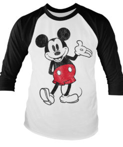 Tshirt manches longues Mickey Mouse Baseball de couleur