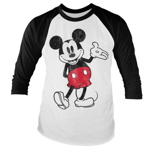 Tshirt manches longues Mickey Mouse Baseball de couleur