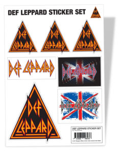 Vêtements Def Leppard Sticker Set de couleur