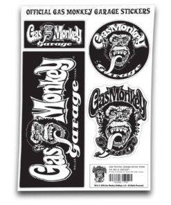 Vêtements Gas Monkey Garage Sticker Sheet de couleur