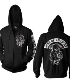 Veste SOA Backpatch Zipped de couleur Noir