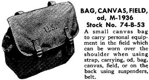 Sac modèleM-1936 de l'armée américaine