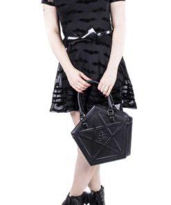 Sac gothique noir avec étoile pour femme