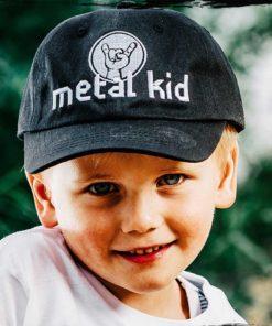 Casquette pour enfant brodée Metal Kid
