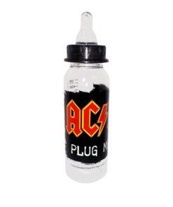 Biberon en plastique pour bébé à l'effigie du groupe de rock AC/DC