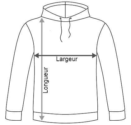 Taille de sweat (largeur et longueur)