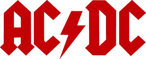 Logo du groupe AC/DC (rouge)