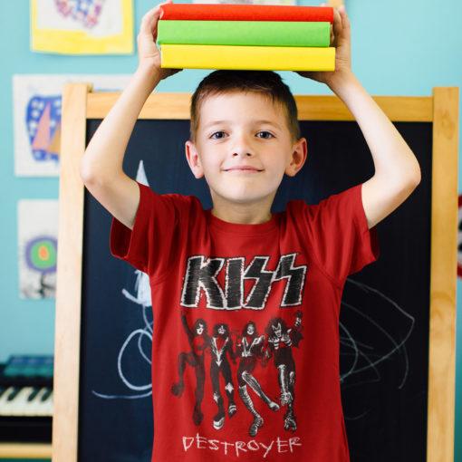 T-shirt KISS destroyer pour enfant (rouge)