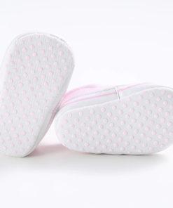 Semelles des chaussures tête de mort pour bébé (roses)