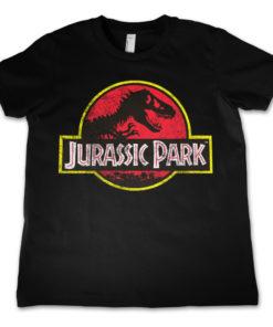T-shirt Jurassic Park pour enfant de couleur noire