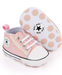 Chaussures rock roses et brillantes pour bébé fille