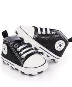 Chaussures bébé effet paillettes noires